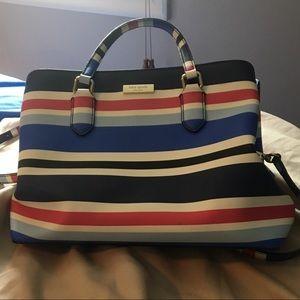 Striped Kate spade purse